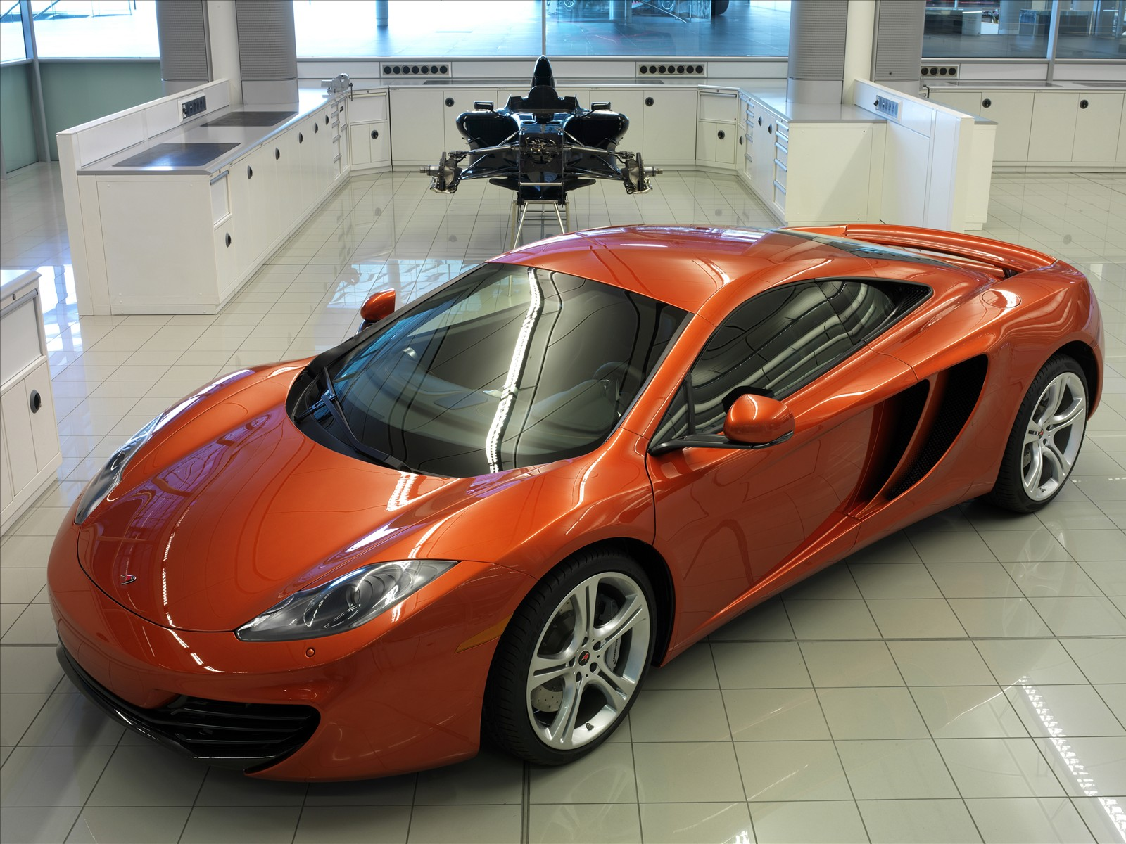 2011 McLaren MP4-12C showroom
